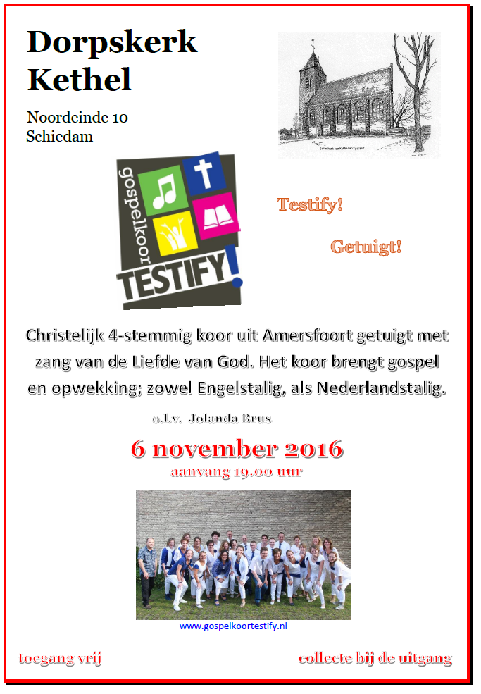 Gospelsound in Schiedam @ Dorpskerk Kethel | Schiedam | Zuid-Holland | Nederland